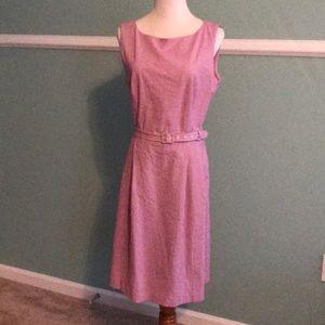 Dainty Anne Klein Red-Striped Dress